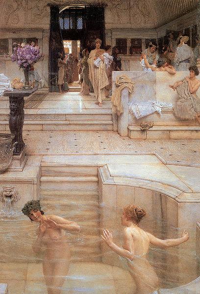 408px-Alma-Tadema_A_Favourite_Custom_1909_Tate_Britain