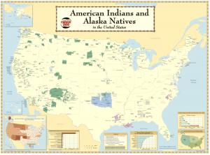 Carte des Réserves autochtones aux États-Unis (Carte produite par le U.S. Census Bureau en 2006 - Domaine Public, Source)