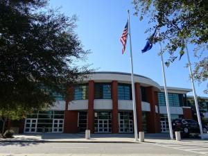 Entrée du Centre des congrès à North Charleston (Photo: E. Alvarez)