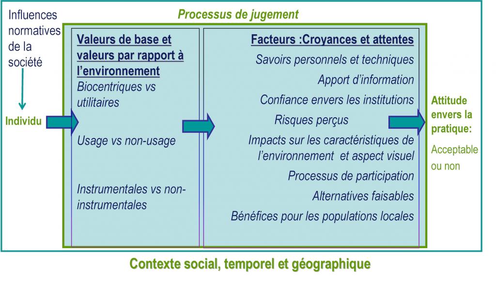 Figure 1. Processus individuel du jugement d'acceptabilité (par V. Yelle)