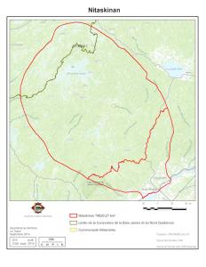 Le Nitaskinan - Le territoire revendiqué par la nation Attikamekw (Source)