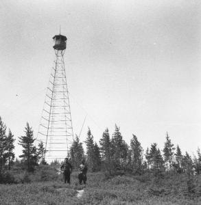 Tour à feu ou tour d'observation (Source: Société d'Histoire Forestière du Québec)