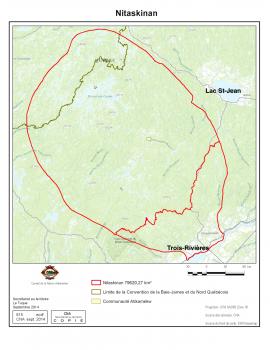 Le Nitaskinan, territoire revendiqué par les Atikamekw