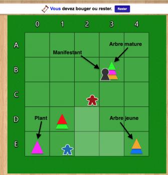 Le jeu Logger sur le site BoardGameArena.